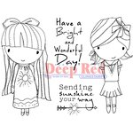 Deep Red Stamps - Cling Mounted Rubber Stamp - Little Cuties Sunshine