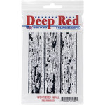 Deep Red Stamps - Cling Mounted Rubber Stamp - Weathered Wall Background