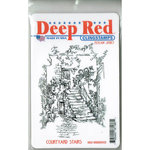 Deep Red Stamps - Cling Mounted Rubber Stamp - Courtyard Stairs