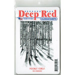 Deep Red Stamps - Cling Mounted Rubber Stamp - Moonlit Forest