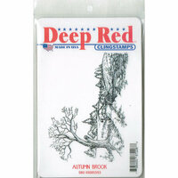 Deep Red Stamps - Cling Mounted Rubber Stamp - Autumn Brook