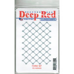 Deep Red Stamps - Cling Mounted Rubber Stamp - Fishing Nets
