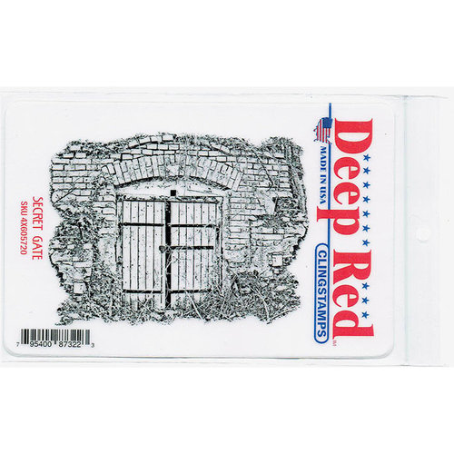 Deep Red Stamps - Cling Mounted Rubber Stamp - Secret Gate