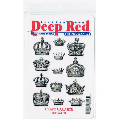 Deep Red Stamps - Cling Mounted Rubber Stamp - Crown Collection