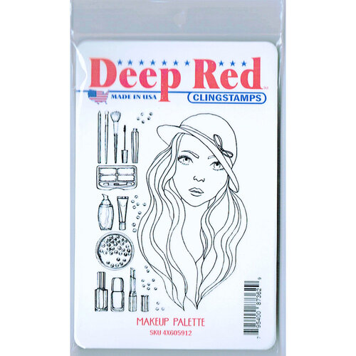 Deep Red Stamps - Cling Mounted Rubber Stamp - Makeup Palette