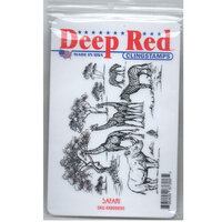 Deep Red Stamps - Cling Mounted Rubber Stamp - Safari
