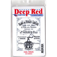 Deep Red Stamps - Cling Mounted Rubber Stamp - Paris Perfume