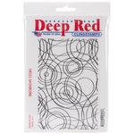 Deep Red Stamps - Cling Mounted Rubber Stamp - Circles Background