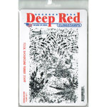 Deep Red Stamps - Cling Mounted Rubber Stamp - Fossil Background