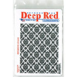 Deep Red Stamps - Cling Mounted Rubber Stamp - Damask Background