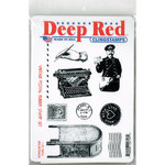 Deep Red Stamps - Cling Mounted Rubber Stamp - Vintage Postal