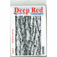 Deep Red Stamps - Cling Mounted Rubber Stamp - Tree Bark Background