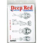Deep Red Stamps - Cling Mounted Rubber Stamp - City Girls Street Chic