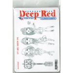 Deep Red Stamps - Cling Mounted Rubber Stamp - City Girls Winter Time
