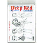 Deep Red Stamps - Cling Mounted Rubber Stamp - City Girls Night Out