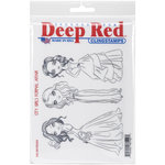 Deep Red Stamps - Cling Mounted Rubber Stamp - City Girls Formal Affair
