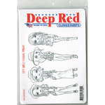 Deep Red Stamps - Cling Mounted Rubber Stamp - City Girls Casual Friday