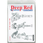 Deep Red Stamps - Christmas - Cling Mounted Rubber Stamp - City Girls Holiday Cheer
