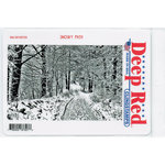 Deep Red Stamps - Cling Mounted Rubber Stamp - Snowy Path