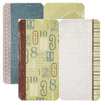 Dream Street Papers - Clubhouse Collection by Tracy Whitney - 12x12 Die-Cuts - Rectangles, CLEARANCE