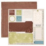 Dream Street Papers - Enchanted Collection by Tracy Whitney - 12x12 Double Sided Paper - Bits and Pieces, CLEARANCE