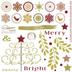 Dream Street Papers - Merry and Bright Collection - Christmas - Rub Ons