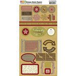 Dream Street Papers - Merry and Bright Collection - Christmas - Die Cuts - Shapes