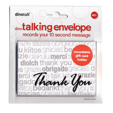 Dinotalk Talking Collection Recordable Gift Card Holder