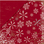 Deja Views - C-Thru - Little Yellow Bicycle - 25 Days of Christmas Collection - 12 x 12 Double Sided Metallic Paper - Snowflake