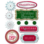 Deja Views - C-Thru - Little Yellow Bicycle - 25 Days of Christmas Collection - 3 Dimensional Stickers with Metallic and Jewel Accents, CLEARANCE