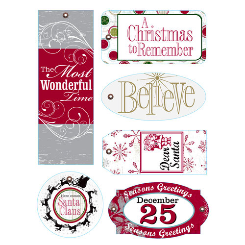Deja Views - C-Thru - Little Yellow Bicycle - 25 Days of Christmas Collection - Fabric Tags with Metal Grommets, CLEARANCE
