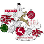 Deja Views - C-Thru - Little Yellow Bicycle - 25 Days of Christmas Collection - Clear Cuts - Metallic Shapes, CLEARANCE