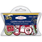 Deja Views - C-Thru - Little Yellow Bicycle - 25 Days of Christmas Collection - Epoxy Chipboard Buttons, CLEARANCE