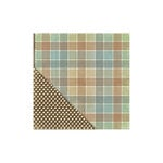 Little Yellow Bicycle - Acorn Hollow Collection - 12 x 12 Double Sided Paper - Pretty Plaid