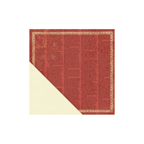 Little Yellow Bicycle - Acorn Hollow Collection - 12 x 12 Double Sided Paper - Crimson Text