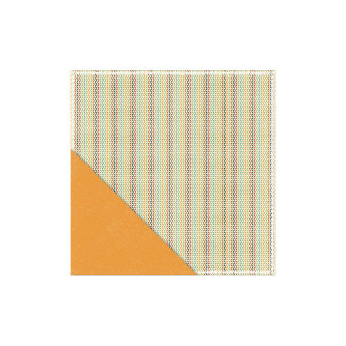 Little Yellow Bicycle - Acorn Hollow Collection - 12 x 12 Double Sided Paper - Chevron Knit