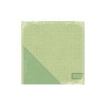 Little Yellow Bicycle - Acorn Hollow Collection - 12 x 12 Double Sided Paper - Lichen Check