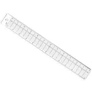 "12"" Grid Ruler with Stainless Steel Edge"