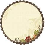 Deja Views - C-Thru - Little Yellow Bicycle - Autumn Bliss Collection - 12 x 12 Decorative Edge Paper with Metallic Accents - Autumn, BRAND NEW