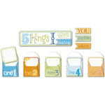 Deja Views - C-Thru - Little Yellow Bicycle - BabySaurus Collection - 5 Things Envelopes with Embossed Accents
