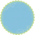 Deja Views - C-Thru - Little Yellow Bicycle - Baby Safari Boy Collection - 12 x 12 Decorative Edge Paper - Round Scallop