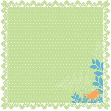 Deja Views - C-Thru - Little Yellow Bicycle - Baby Safari Boy Collection - 12 x 12 Lace-Cut Paper - Leafy Edge, CLEARANCE