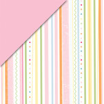 Deja Views - C-Thru - Little Yellow Bicycle - Baby Safari Girl Collection - 12 x 12 Double Sided Paper - Stripe