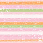 Deja Views - C-Thru - Little Yellow Bicycle - Baby Safari Girl Collection - 12 x 12 Glitter Paper - Girl Stripes and Swirls, CLEARANCE