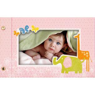Deja Views - C-Thru - Little Yellow Bicycle - Baby Safari Girl Collection - 4 x 6 Glittered Brag Book