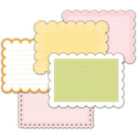 Deja Views - C-Thru - Little Yellow Bicycle - Baby Safari Girl Collection - Photo Mats - Decorative Edge, CLEARANCE