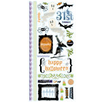 Deja Views - C-Thru - Little Yellow Bicycle - Booville Collection - Halloween - Clear Stickers with Glitter Accents, CLEARANCE