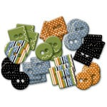 Deja Views - C-Thru - Little Yellow Bicycle - Booville Collection - Halloween - Epoxy Chipboard Buttons, CLEARANCE