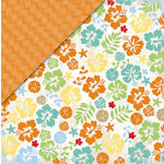 Deja Views - C-Thru - Little Yellow Bicycle - Boardwalk Collection - 12 x 12 Double Sided Paper - Spring Break Floral, CLEARANCE