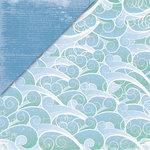 Deja Views - C-Thru - Little Yellow Bicycle - Boardwalk Collection - 12 x 12 Double Sided Paper - Make a Splash